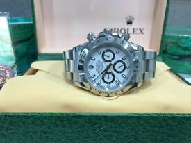 BrandNew Rolex Daytona white face automatic sweeping movement