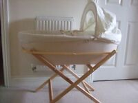 Shnuggle Moses Basket with stand - was over £100 new from John Lewis