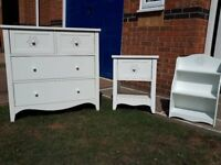 Girl's white bedroom furniture from Next