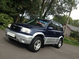 HI SPEC 2003 SUZUKI GRAND VITARA RHINO 5 DR /LOW MILES/IDEAL SIZE/NEW MOT/LIKE JIMNY 4WD /X TRAIL