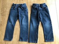 2 pairs of boys Next jeans, age 5, regular and straight