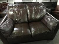 Top grade brown leather 3 and 2 sofas
