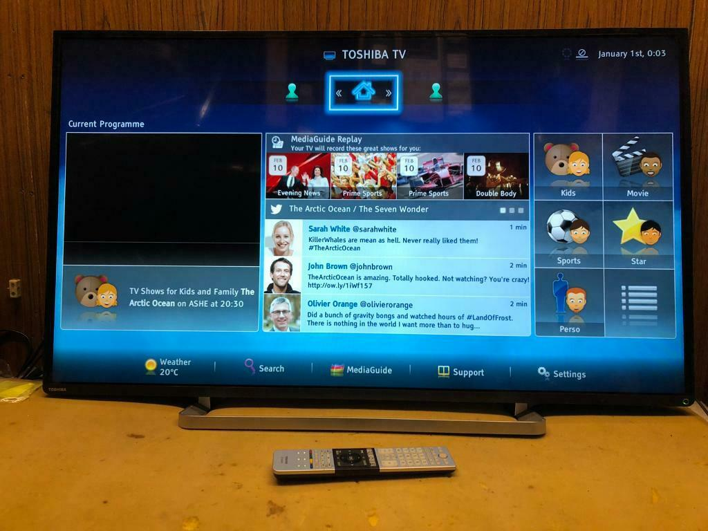 "Toshiba 47"" 3D LED SMART TV 📺 £199 Apps wifi 