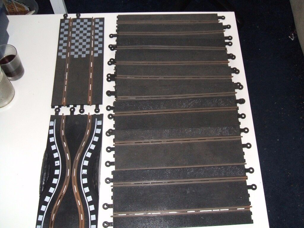 Vintage Scalextric 400 parts - track,controller,cars,barriers.