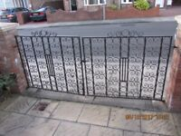 Garden driveway iron gates