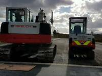 Mini digger and dumper hire with or without operator
