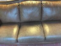 3 Piece Tan Leather Suite £195