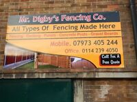MR DIGBYS GARDEN PRODUCTS, FENCING AND LANDSCAPING