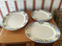 3 'Old Eton Ivory Springtime' Serving Platters / Plates - Only 50p each!