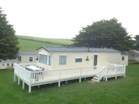 Static Holiday Caravan hire AUGUST 2018 Cornwall Newquay View Resort Indoor Pool Walk to beach Surf