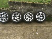 VAUXHALL INSIGNIA ALLOY WHEELS COMPLETE SET