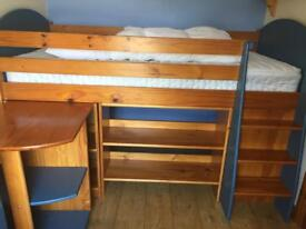 Cabin bed and storage