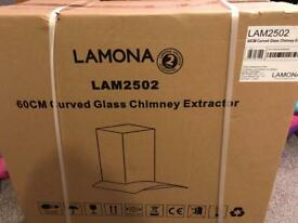 Lamona Curved Glass Chimney Extractor NEW