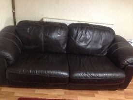 Leather sofa 3 seater £90 Ono really cheap