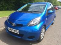 TOYOTA AYGO BLUE 1.0 , 5 DOOR , IDEAL FIRST CAR ,MOT DEC 18 , £20 YEARLY ROAD TAX ,C1 , 107