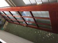 Interior brown 15 panel glass doors