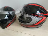 Two Motorbike Quad Helmets Small Size and XL Size