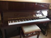 Yamaha P121NT upright piano in mahogany