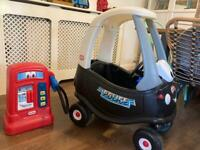 Cozy Coupe police car and petrol pump