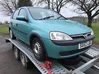 Vauxhall Corsa 52 1.2 petrol spares or repairs