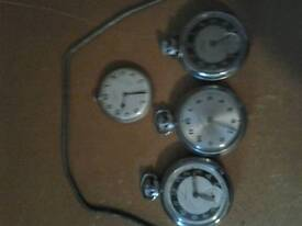 Pocket watches x3 Ingersoll and 1 olivia