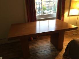 1990s Habitat style solid wooden veneer dining table