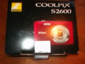 COOLPIX S2600 RED NIKON CAMERA