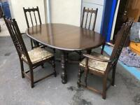 Fabulous - Ercol Old Colonial Dark Elm Dining Room Suite in beautiful condition.