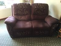 3 Piece suit for sale 1x two seater and 2x armchairs all electric recliners good condition