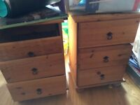 PAIR OF BEDSIDE DRAWERS In need of lots TLC