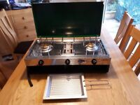 Gas Camping Stove With2 Burners And Grill