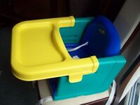 BOOSTER DINING CHAIR AND TRAY