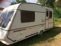Bailey Pageant 2 Birth Caravan with New Awning