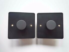Pair of MK dimmer switches Matt black Anodised special order- BOXED NEW RRP £136.00