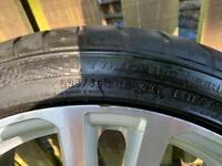 Audi A3 alloy wheel/tyre