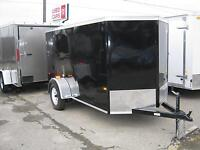 5 x 10 ENCLOSED V-NOSE UTILITY TRAILER RAMP - STK# 1388