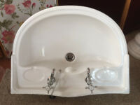 Vintage Sink and Pedestal plus Taps