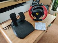 Thrustmaster Ferrari 458 Spider Racing Steering Wheel and Pedals Set Xbox one - Worn Box