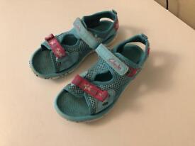 clarks sandals girl kids UK 8 1/2 F