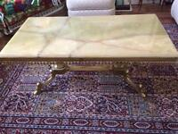 Beautiful marble topped coffee table shabby chic