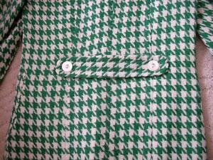 Women's Vintage Retro Style Kelly Green White Houndstooth Coat Windsor Region Ontario image 2