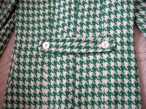 Women's Vintage Retro Style Kelly Green White Houndstooth Coat Windsor Region Ontario image 2