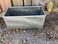 Garden Planter - Galvanised water trough