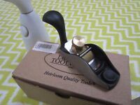 lie-Nielsen 100 1/2 convex sole block plane, unused and boxed, immaculate condition