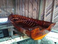 Traditional Finnish Wooden Rowing Boat