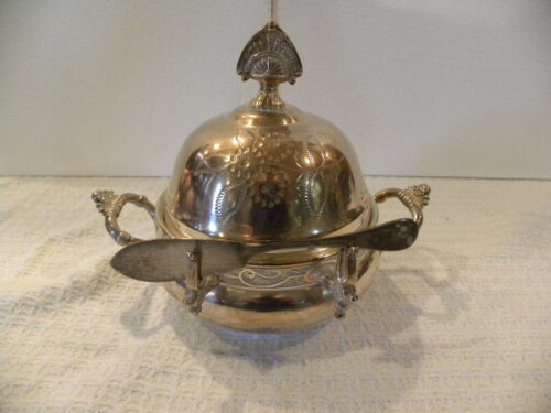 Vintage New Haven Silver Plate Butter Dish With Lid