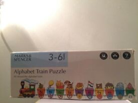 M&S Alphabet Train Puzzle