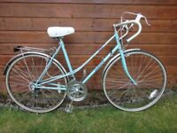 Ladies retro road bike, Countess, 27 inch wheels, 12 gears, 21 inch frame, rear rack, mud guards