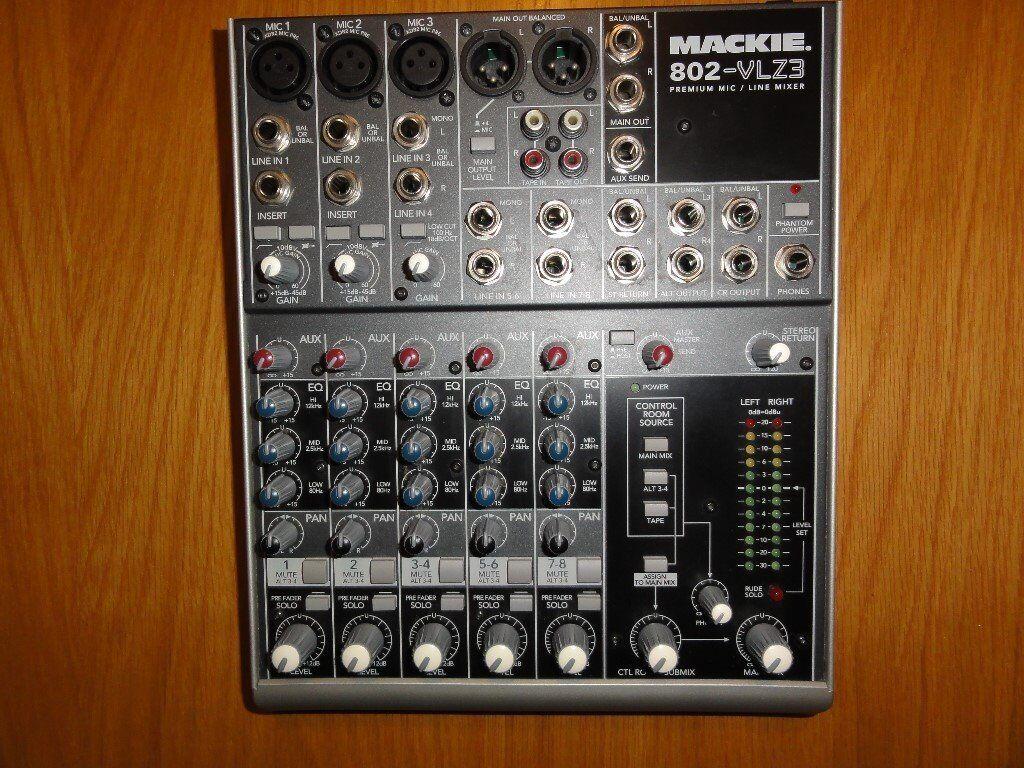 MACKIE MIXER 802 VLZ 8 Channel Premium Mic Line Mixer Excellent Condition