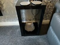 black side tables / lamp tables
